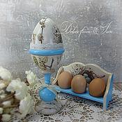 """Для дома и интерьера ручной работы. Ярмарка Мастеров - ручная работа шкатулка-яйцо """"Светлая Пасха"""". Handmade."""