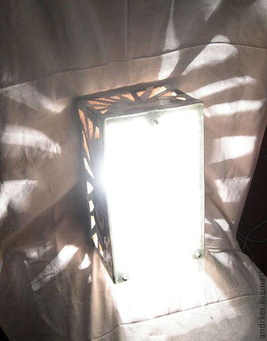 """Освещение ручной работы. Ярмарка Мастеров - ручная работа. Купить Настенный светильник """"Конструкт"""". Handmade. Светильник, глина, глазури"""