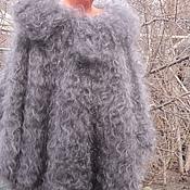 Одежда handmade. Livemaster - original item Poncho duvet Gray mist. Handmade.