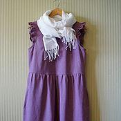 Платья ручной работы. Ярмарка Мастеров - ручная работа Платье льняное Пыльная роза платье женское платье летнее. Handmade.