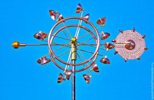 Экстерьер и дача ручной работы. Ярмарка Мастеров - ручная работа. Купить Ветряная кинетическая скульптура Tres. Handmade. Флюгер, бронза