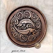 Для дома и интерьера ручной работы. Ярмарка Мастеров - ручная работа декоративное панно-тарелка. Handmade.