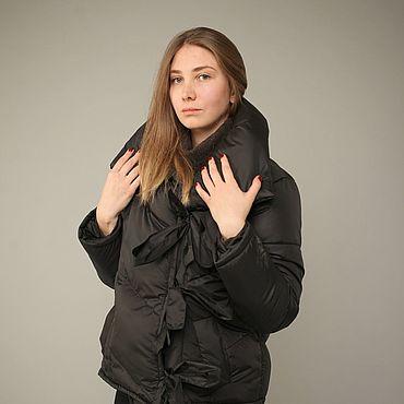 Одежда ручной работы. Ярмарка Мастеров - ручная работа Пуховик-Одеяло Чёрный 70см. Handmade.
