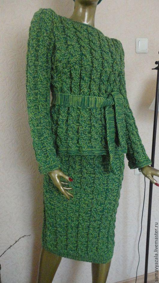 Костюмы ручной работы. Ярмарка Мастеров - ручная работа. Купить Вязаный костюм. Handmade. Костюм, вязание на заказ, уличный стиль