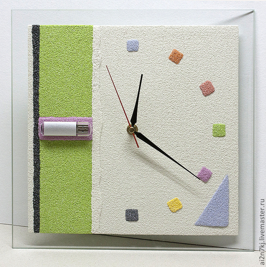 """Часы для дома ручной работы. Ярмарка Мастеров - ручная работа. Купить """"УМНЫЕ ЧАСЫ"""" из песка часы авторские. Handmade. Белый"""