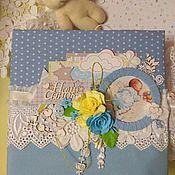 Фотоальбомы ручной работы. Ярмарка Мастеров - ручная работа Альбом для малыша. Handmade.