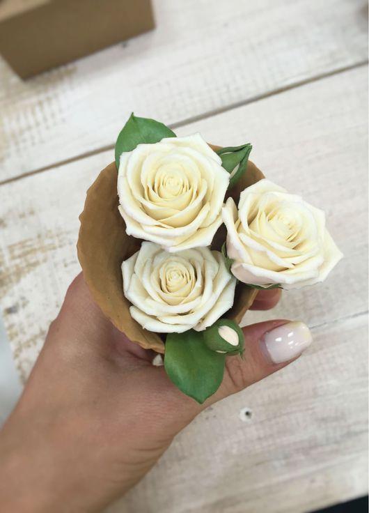 Свадебные украшения ручной работы. Ярмарка Мастеров - ручная работа. Купить Набор розочек для прически. Handmade. Свадебные цветы