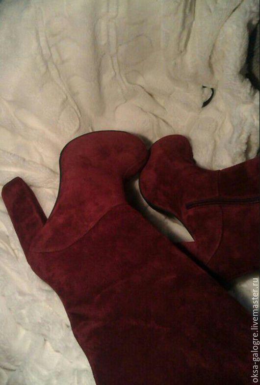 Обувь ручной работы. Ярмарка Мастеров - ручная работа. Купить зимние сапоги (марсала). Handmade. Бордовый, сапоги зимние