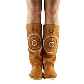 Обувь ручной работы. Ярмарка Мастеров - ручная работа Летние сапоги из натуральной кожи STAR  рыжие  /38 размер в наличие. Handmade.