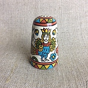 Русский стиль handmade. Livemaster - original item Thimble wood collectible