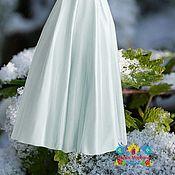 """Одежда ручной работы. Ярмарка Мастеров - ручная работа Белая юбка из искусственного шелка """"Хрусталь"""". Handmade."""