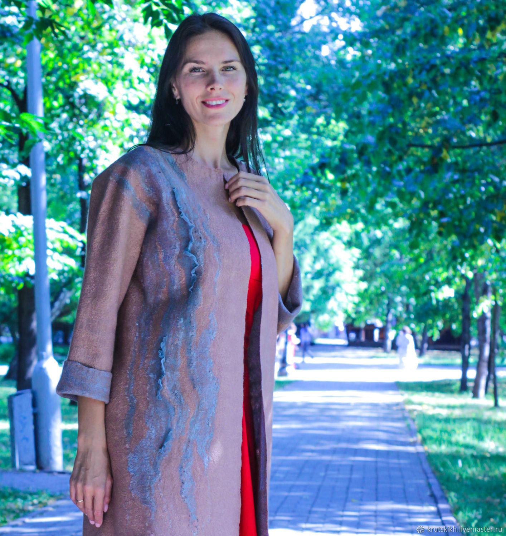 Валяное пальто - кардиган, Пиджаки жакеты, Новосибирск, Фото №1