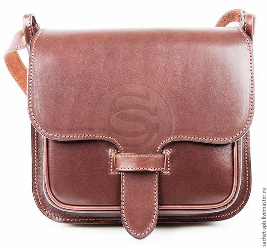 """Женские сумки ручной работы. Ярмарка Мастеров - ручная работа. Купить Женская кожаная сумка """"Дуэт"""" темно- коричневая. Handmade."""