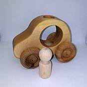 Куклы и игрушки handmade. Livemaster - original item Wooden machine with a passenger. Handmade.