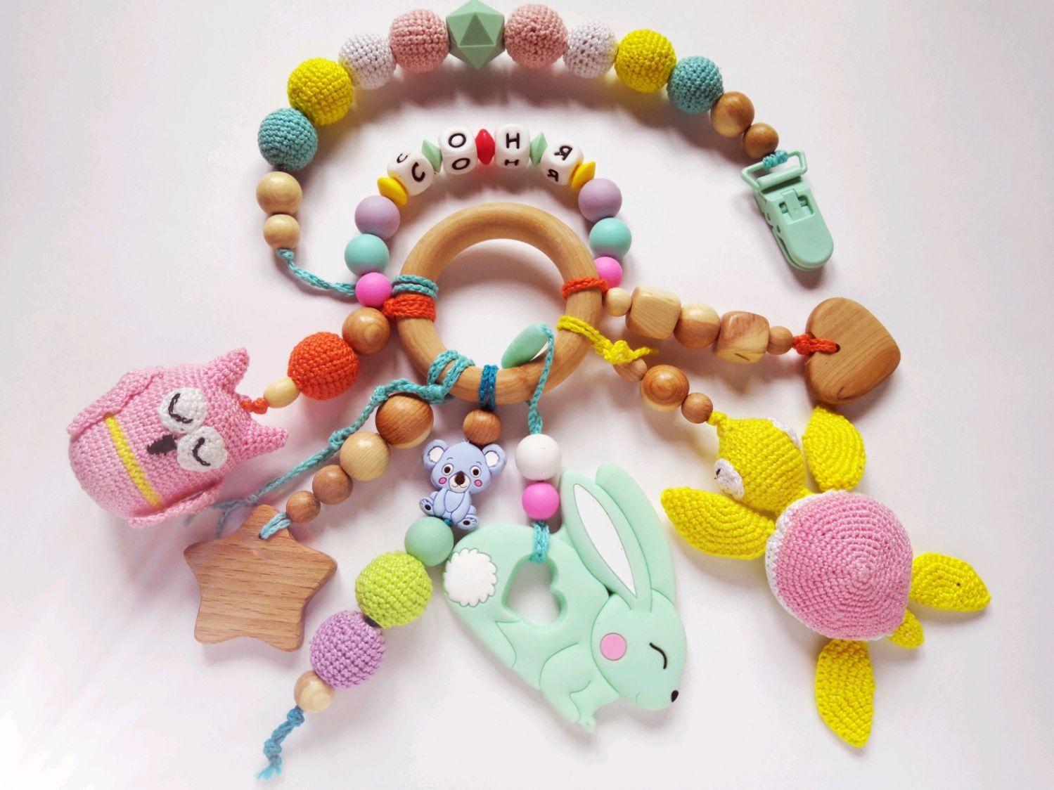 Развивающие игрушки ручной работы. Ярмарка Мастеров - ручная работа. Купить Развивашка. Handmade. Детская игрушка, развивашка, держатель для соски.