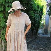 Одежда ручной работы. Ярмарка Мастеров - ручная работа Платье льняное. Handmade.