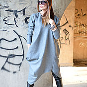 Одежда handmade. Livemaster - original item Tunic dress made of cashmere.Grey dress. dress with sleeve. Tunic.. Handmade.