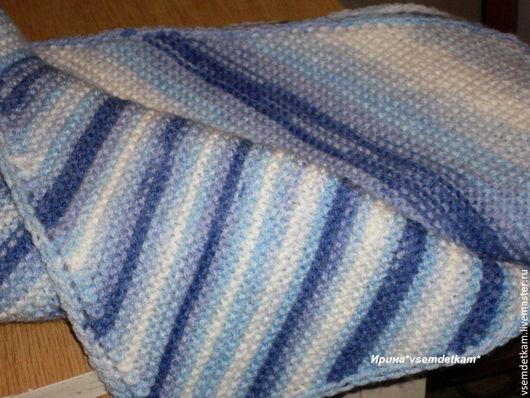Для новорожденных, ручной работы. Ярмарка Мастеров - ручная работа. Купить Детский плед- диагональное одеяло. Handmade. Плед, зима