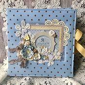 Фотоальбомы ручной работы. Ярмарка Мастеров - ручная работа Альбом на рождение малыша. Handmade.