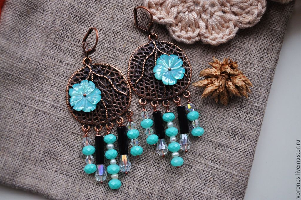 Earrings 'Holiday in the Maldives 2', Earrings, Moscow,  Фото №1