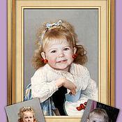 Картины и панно ручной работы. Ярмарка Мастеров - ручная работа Фото в картине. Детский и групповой портрет. Handmade.