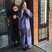 Одежда handmade. Livemaster - original item Cornflower blue mohair cardigan. Handmade.