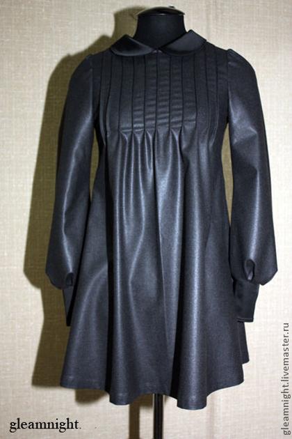 Платья ручной работы. Ярмарка Мастеров - ручная работа. Купить Шерстяное платье. Handmade. Темно-серый, шерсть 100%