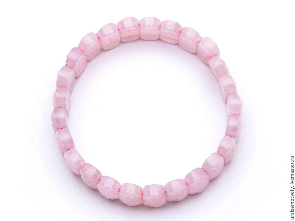 Розовый кварц браслет