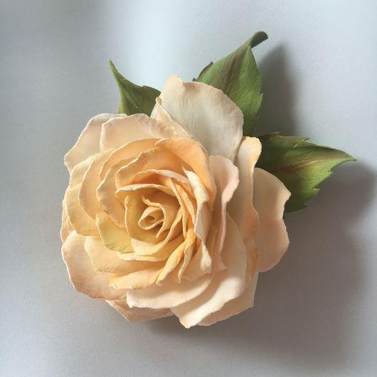 Цветы ручной работы. Ярмарка Мастеров - ручная работа. Купить Брошь Чайная роза. Handmade. Брошь ручной работы
