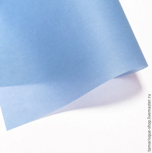 Открытки и скрапбукинг ручной работы. Ярмарка Мастеров - ручная работа. Купить Калька цветная «Небесно-голубая». Handmade. Калька