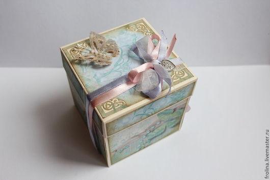 """Свадебные открытки ручной работы. Ярмарка Мастеров - ручная работа. Купить Magic box """"Wedding day"""". Handmade. Подарок на свадьбу"""