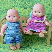 Куклы и игрушки ручной работы. Ярмарка Мастеров - ручная работа Платья  для пупса 12 см. Handmade.