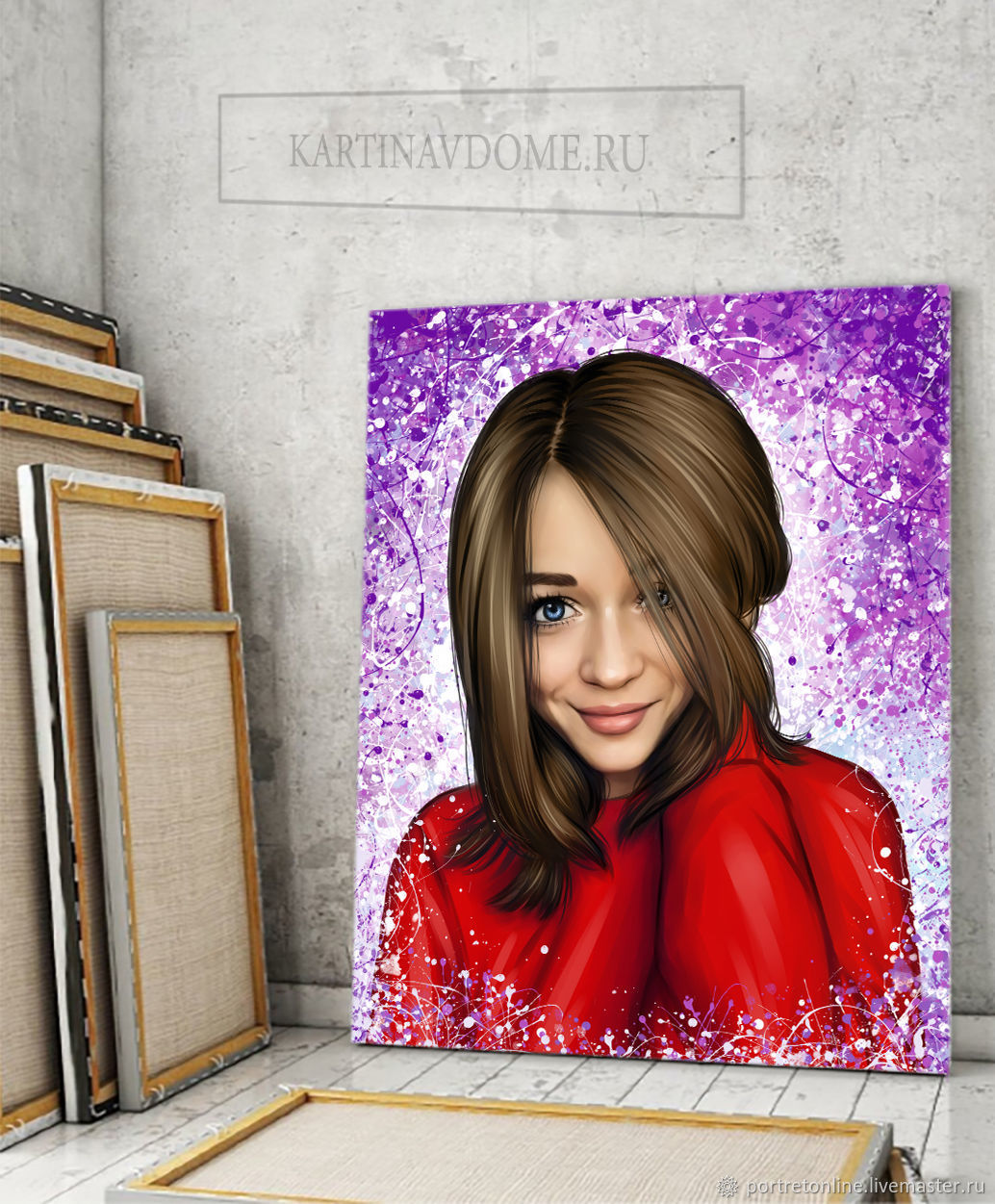 A portrait from a photo in 2 days. Gift a girl on birthday, Fine art photographs, Moscow,  Фото №1