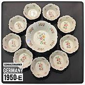 Винтаж handmade. Livemaster - original item Salad plate set ,porcelain, Schwarzenhamer (1509). Handmade.