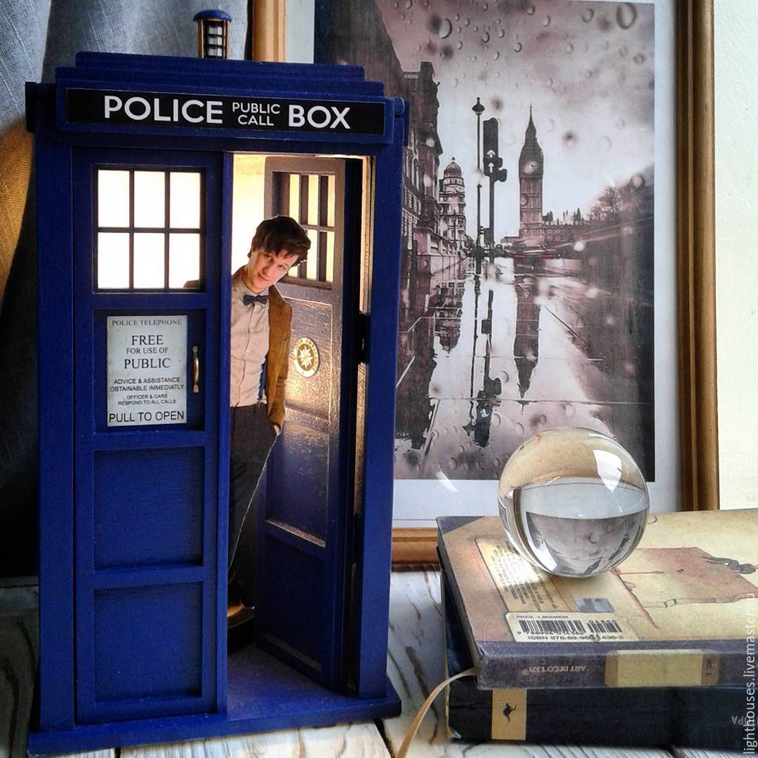 Buy TARDIS-night light with an opening door. Lamp on Livemaster ...