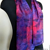 Аксессуары handmade. Livemaster - original item scarf female silk Accent silk scarf. Handmade.