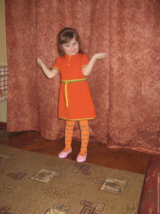 Одежда для девочек, ручной работы. Ярмарка Мастеров - ручная работа. Купить Яркое платье. Handmade. Оранжевый, для девочки, девочке, для детей