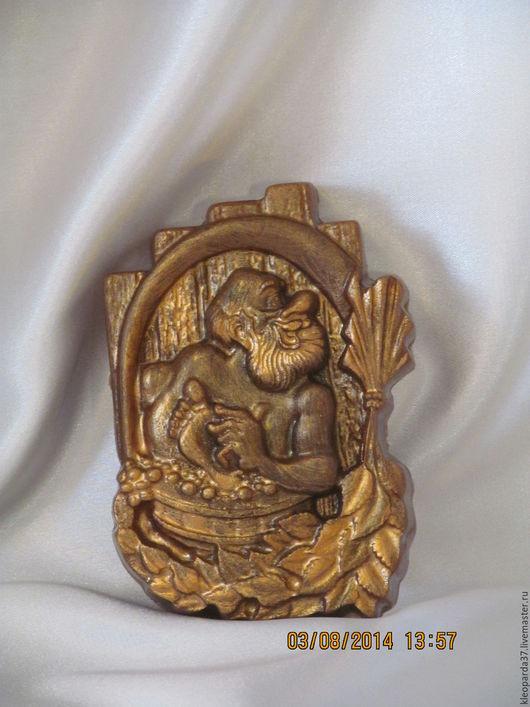"""Мыло ручной работы. Ярмарка Мастеров - ручная работа. Купить Мыло сувенирное """"Банщик"""".. Handmade. Золотой, баня, для бани подарок"""