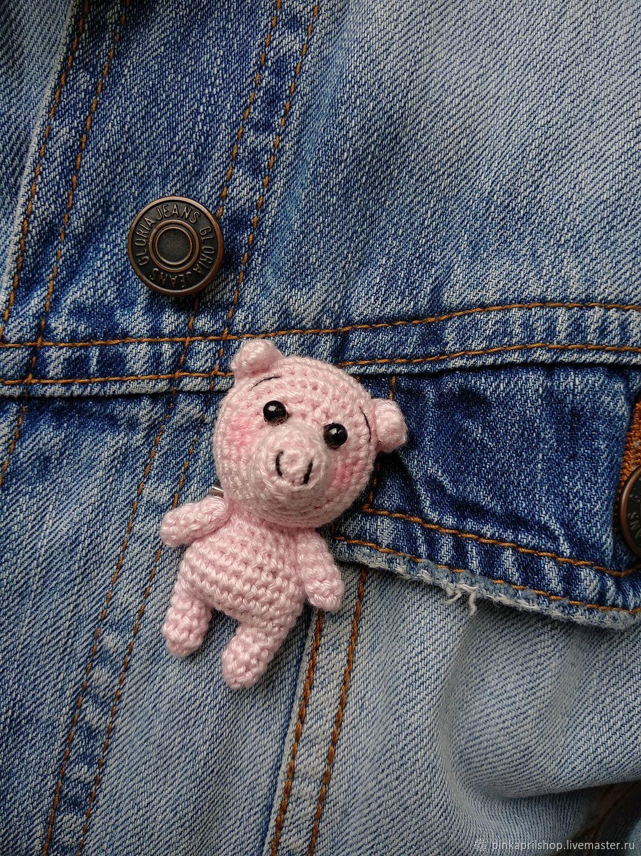 схема вязания брошки свинки купить в интернет магазине на ярмарке
