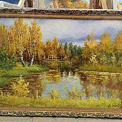 Картины и панно ручной работы. Ярмарка Мастеров - ручная работа Картина маслом Природа, в рамке 70х50 см. Handmade.