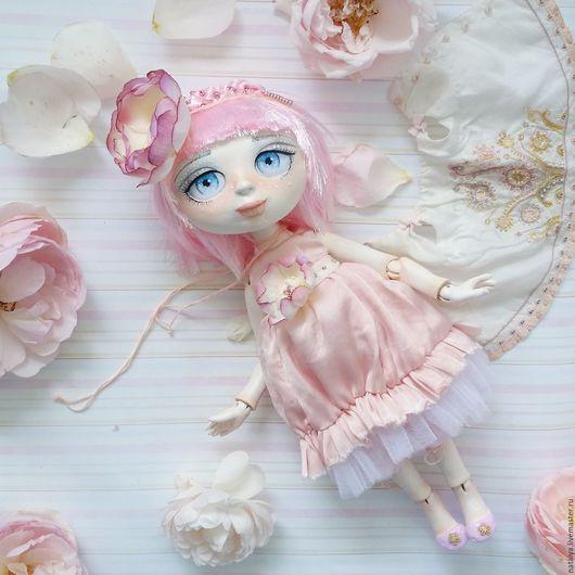 Коллекционные куклы ручной работы. Ярмарка Мастеров - ручная работа. Купить Пиона. Handmade. Бледно-розовый, подарок женщине
