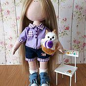 Куклы и игрушки ручной работы. Ярмарка Мастеров - ручная работа Текстильная куколка туристка Сонечка. Handmade.