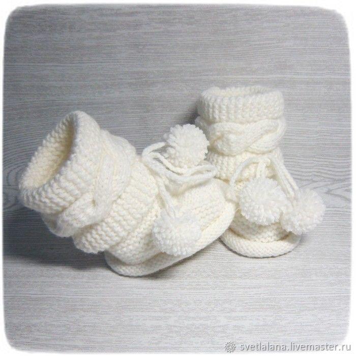Booties with braids for little, Booties, Belgorod, Фото №1