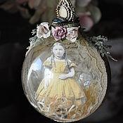 Подарки к праздникам handmade. Livemaster - original item Interior/Christmas ball. Handmade.