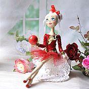 Куклы и пупсы ручной работы. Ярмарка Мастеров - ручная работа Гимнастка с шаром. Handmade.