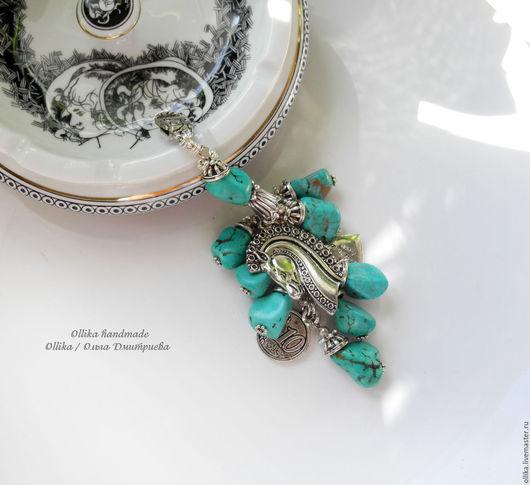Брелок Фаворит, брелок для ключей, украшение на сумку, бирюзовый брелок, подарок другу подруге  мужчине женщине девушке ollika handmade, ollika Ольга Дмитриева