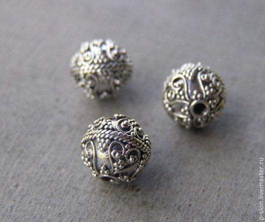 Для украшений ручной работы. Ярмарка Мастеров - ручная работа. Купить Бусина из серебра 925 пробы, Бали СБ5. Handmade.