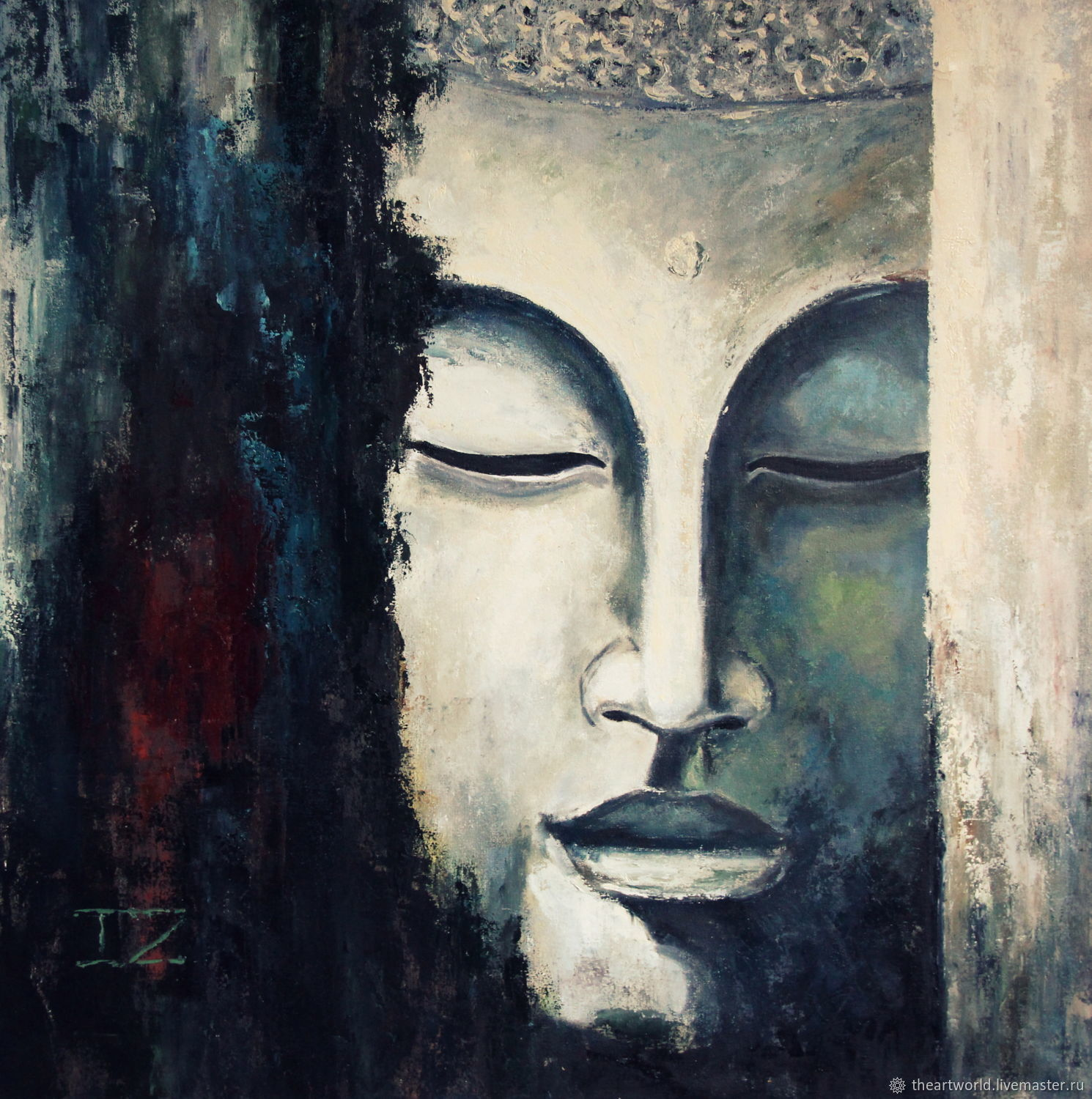 """Copy of Oil painting """"Buddha"""", Pictures, Moscow,  Фото №1"""