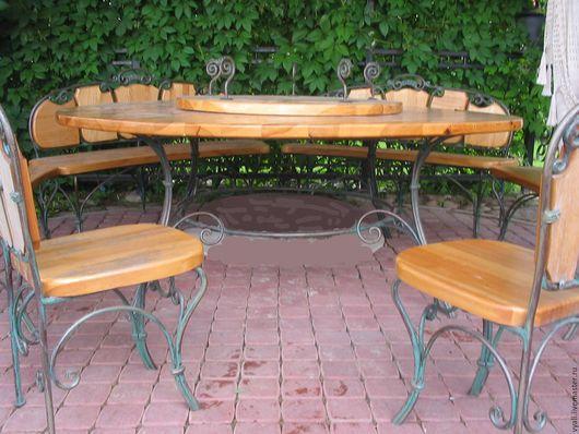 Экстерьер и дача ручной работы. Ярмарка Мастеров - ручная работа. Купить Мебель кованая садовая (для беседки). Handmade. Кованая