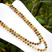 Работы для детей, handmade. Livemaster - original item Long beads made of natural yellow agate. Handmade.
